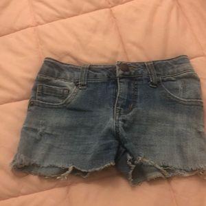 Kids girls denim shorts